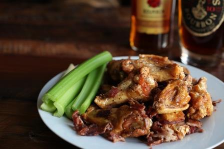 Bourbon Bacon Wings