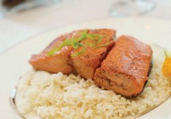 Pan Seared Salmon With Chipotle Bourbon Glaze