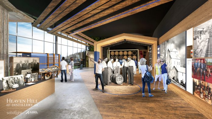 Artists rendering of the new tour space at Heaven Hill distillery.