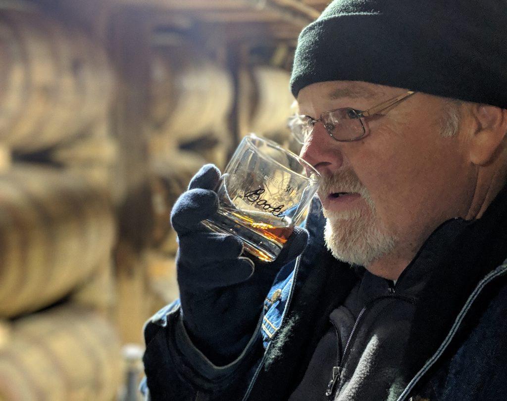 Fred Noe nosing a glass of Booker's 30th. Photo by G. Clay Whittaker.