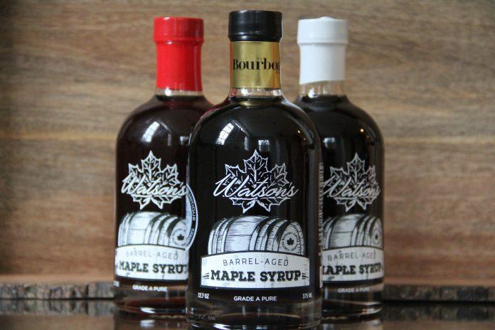 Watson's Bourbon Barrel-Aged Maple Syrup