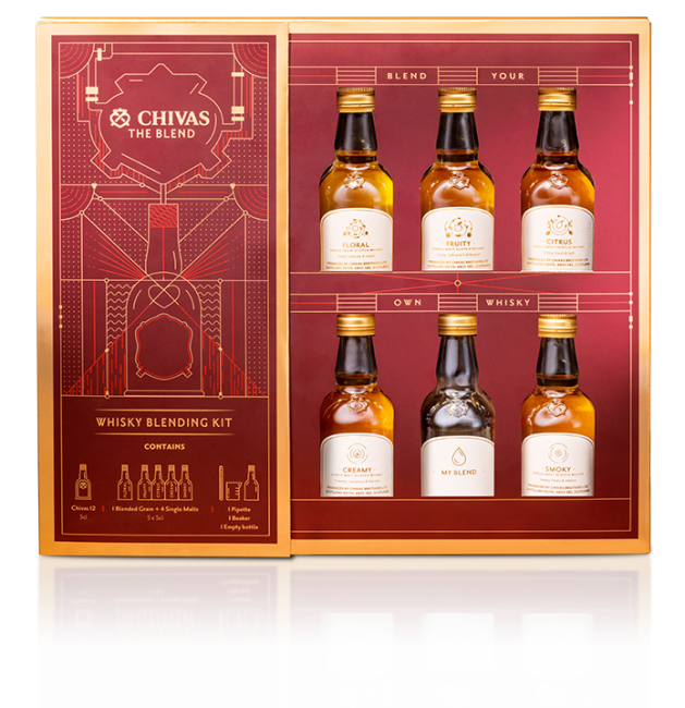 sale retailer 8b957 253c3 Gift a Whiskey Lover's Chemistry Set with this Chivas Home ...