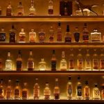 The shelves at Maysville hold over 150 whiskies. Credit Maysville NYC.