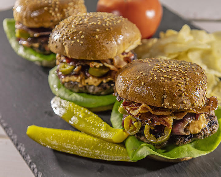Bourbon Barrel Foods: Ultimate Worcestershire Burgers