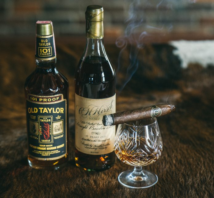 Vintage Whiskey and Cigars