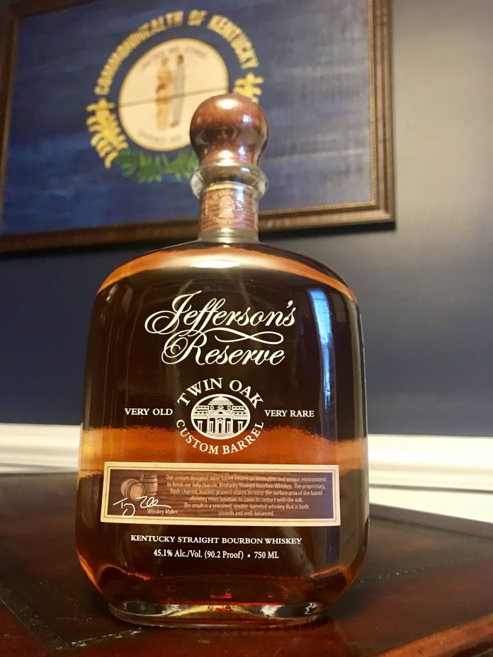 Jefferson's Twin Oak Custom Barrel