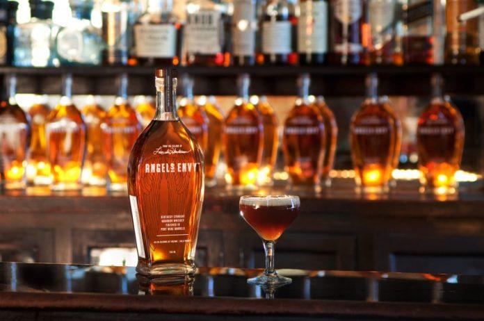 Angel's Envy Bourbon Finished in Port Wine Casks.