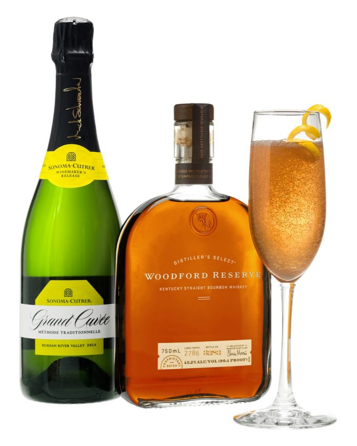 Woodford Reserve and Sonoma-Cutrer Seelbach Cocktail