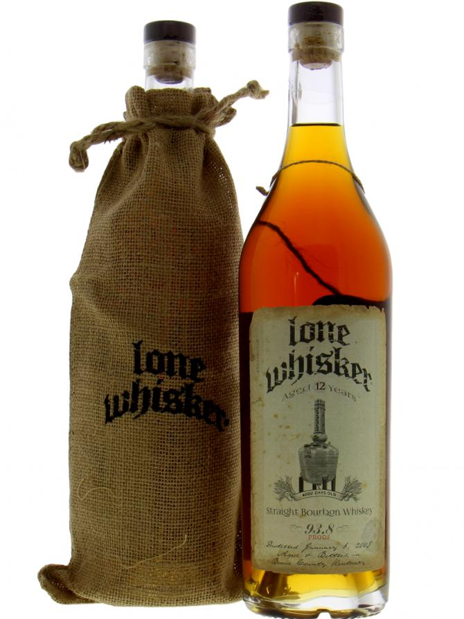 Lone Whisker 12-Year Bourbon.