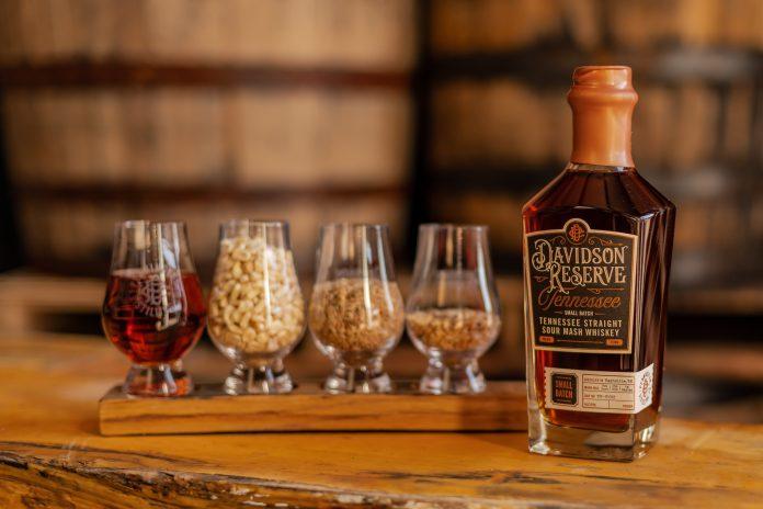 Davidson Reserve Tennessee Whiskey, the first craft Tennessee whiskey made in Nashville. Courtesy Pennington Distilling Co.