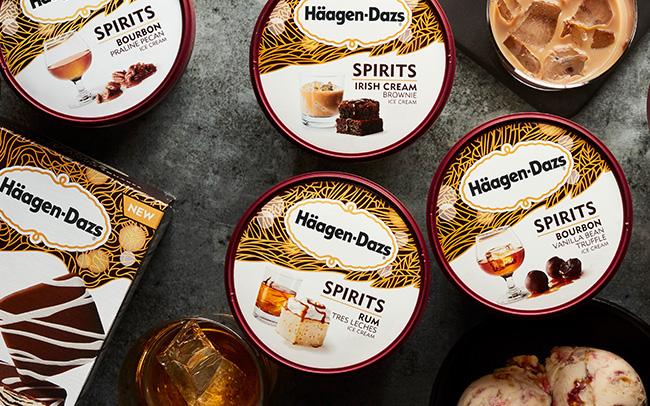 Haagen-Dazs Spirit-Infused Ice Creams. Courtesy Haagen-Dazs