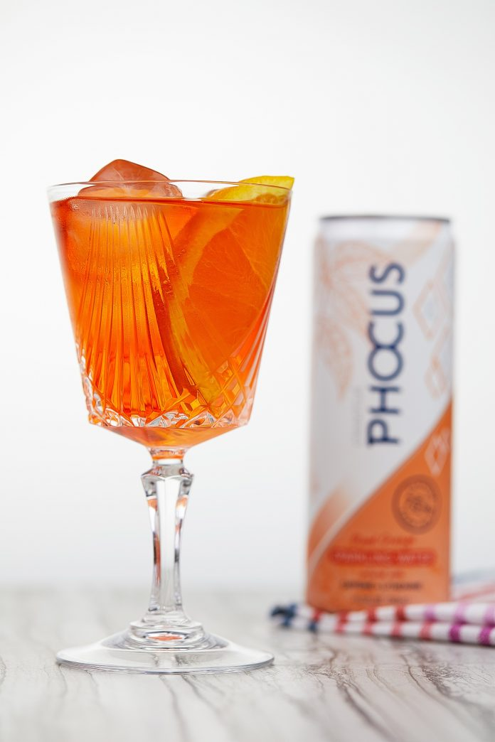 The Boulevard Spritz, with Phocus Sparkling Water.
