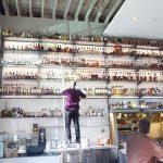 The wall of whiskies at Hard Water in San Francisco. Courtesy Hard Water.