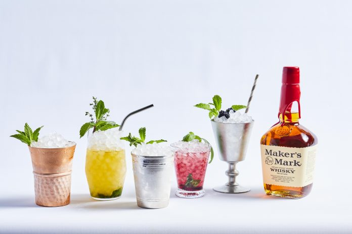 Mint Julep Month cocktails photographed by Peter Frank Edwards
