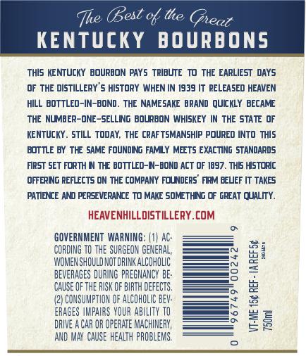 Heaven Hill Announces Namesake Bottled-in-Bond 7-Year Bourbon
