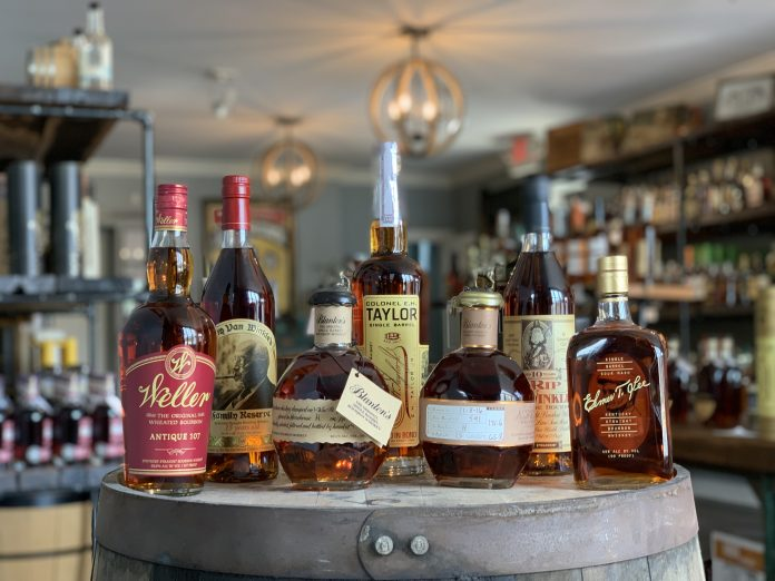 Blanton's, Weller, and more may soon be in better supply as Buffalo Trace moves along with its expansion. Photo courtesy Justins' House of Bourbon.