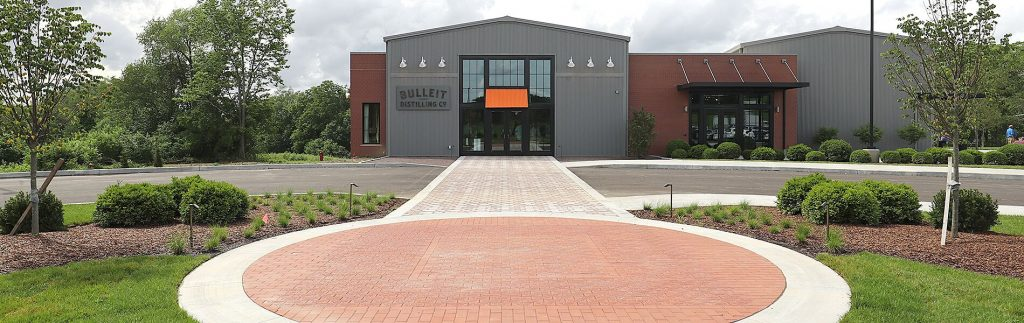 The entrance to the Bulleit Visitor Experience in Shelbyville, Kentucky. Courtesy Bulleit Distilling Co.