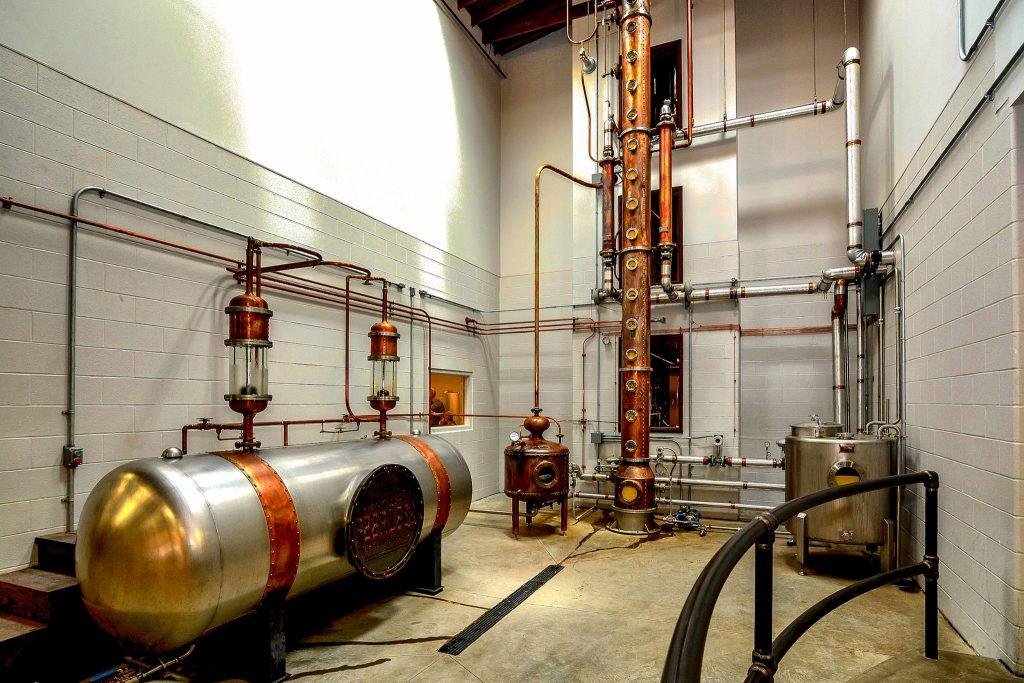 The still at Kentucky Peerless Distilling Co.