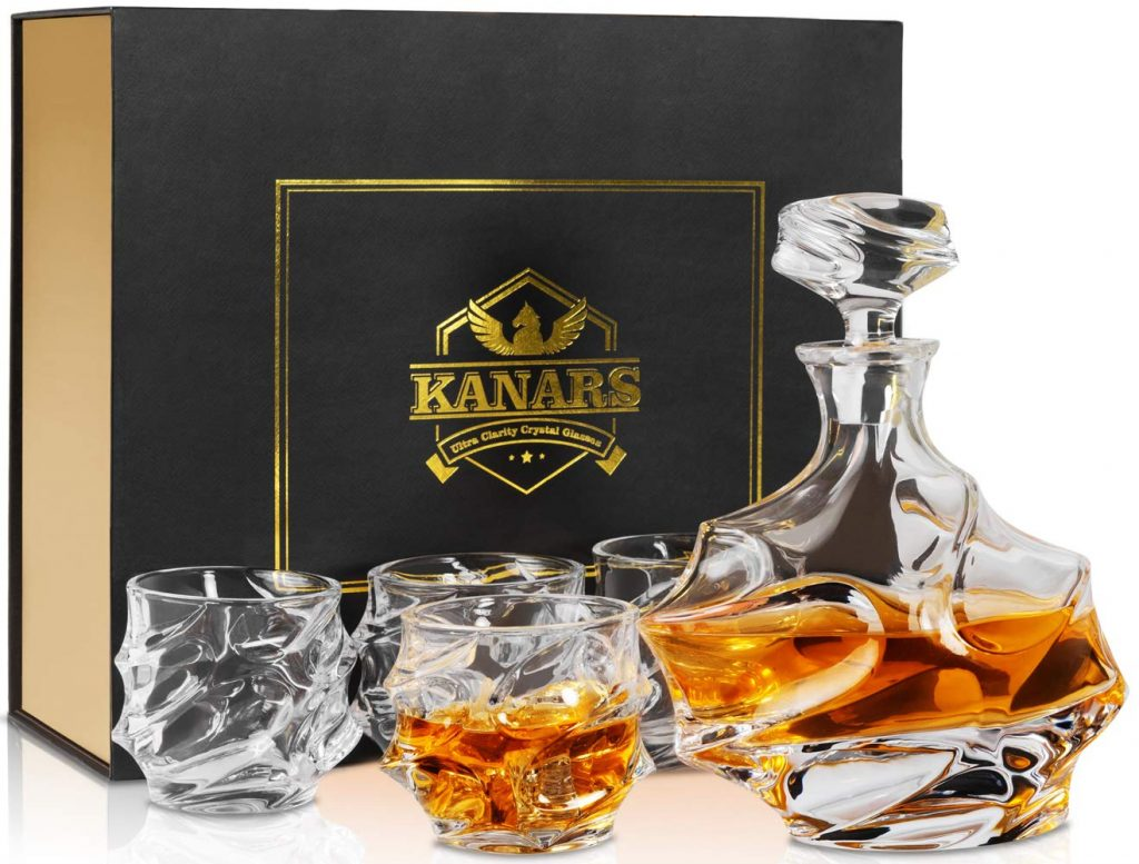 KANARS Whiskey Decanter and Glasses Set. Photo Courtesy KANARS.