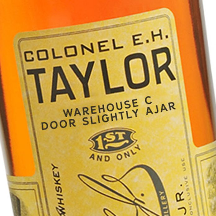 E.H. Taylor Warehouse C Door Slightly Ajar April 1, 2021 Release. Courtesy Wheatly Vodka.
