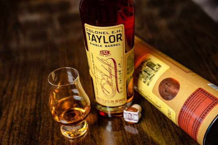 E. H. Taylor Single Barrel Bourbon Chis Stapleton Charity Bottle