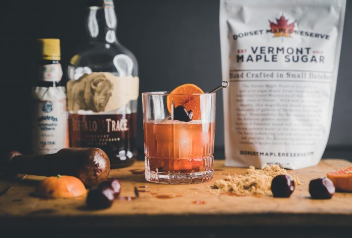 Barrel Aged Maple Syrup Old Fashioned