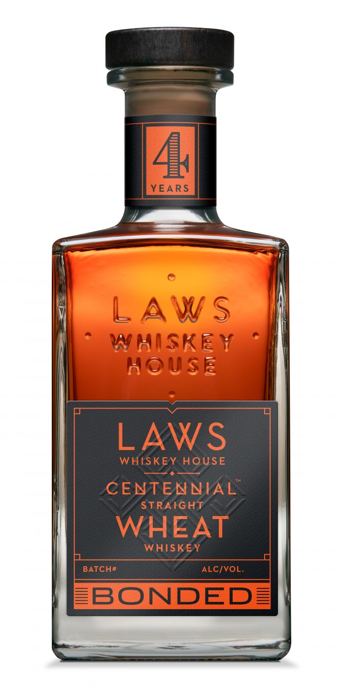 Laws Bonded Centennial Straight Wheat Whiskey. Courtesy Laws Whiskey House.