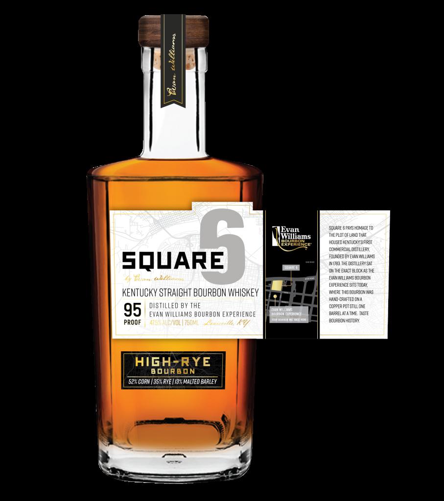 Heaven Hill 's Square 6 Kentucky Straight Bourbon Whiskey. Courtesy Heaven Hill Distillery.